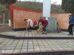 09.04.2021 учениками нашей школы была проведена уборка территории памятника Погибшим воинам
