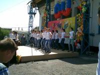 """5 мая учащиеся школы приняли участие в концерте, посвященном 60-летию ГП """"Приветное""""."""