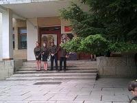 """8 мая в школе состоялось театрализованное представление """"Синий платочек"""", посвященное Дню Победы."""