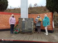 09.12.2020 День Героев Отечества в школе прошли классные часы и возложение цветов к памятнику