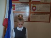 21.09.2021 в школе прошли классные часы посвященные Дню государственного герба и Государственного флага Республики Крым